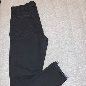 Mother black The Stunner Zip Ankle Step Fray jeans